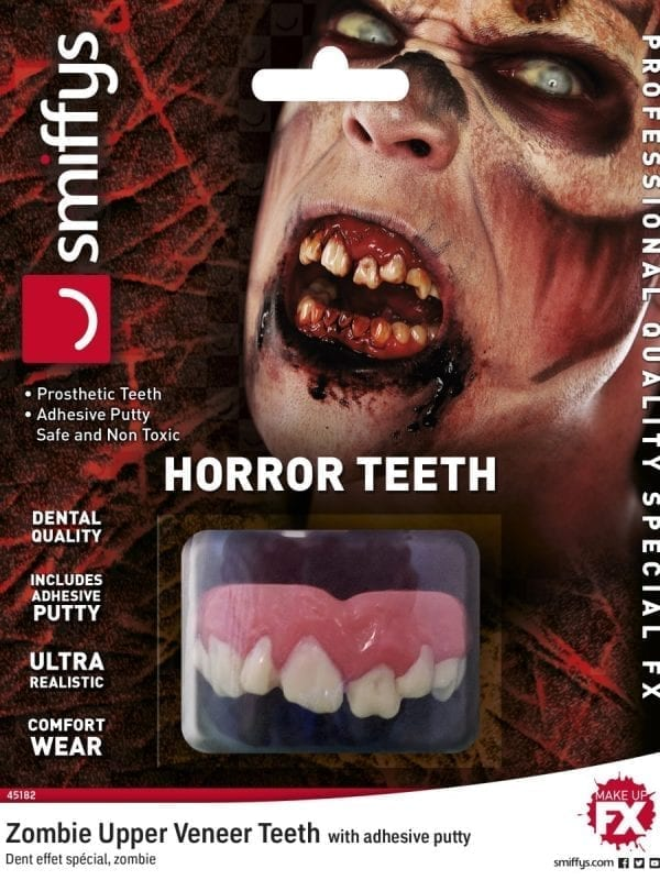 Teeth FX, Zombie, with Upper Veneer Teeth