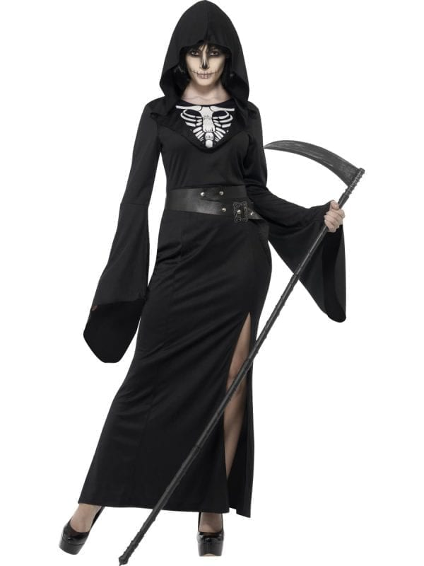 Lady Reaper Ladies Halloween Fancy Dress Costume