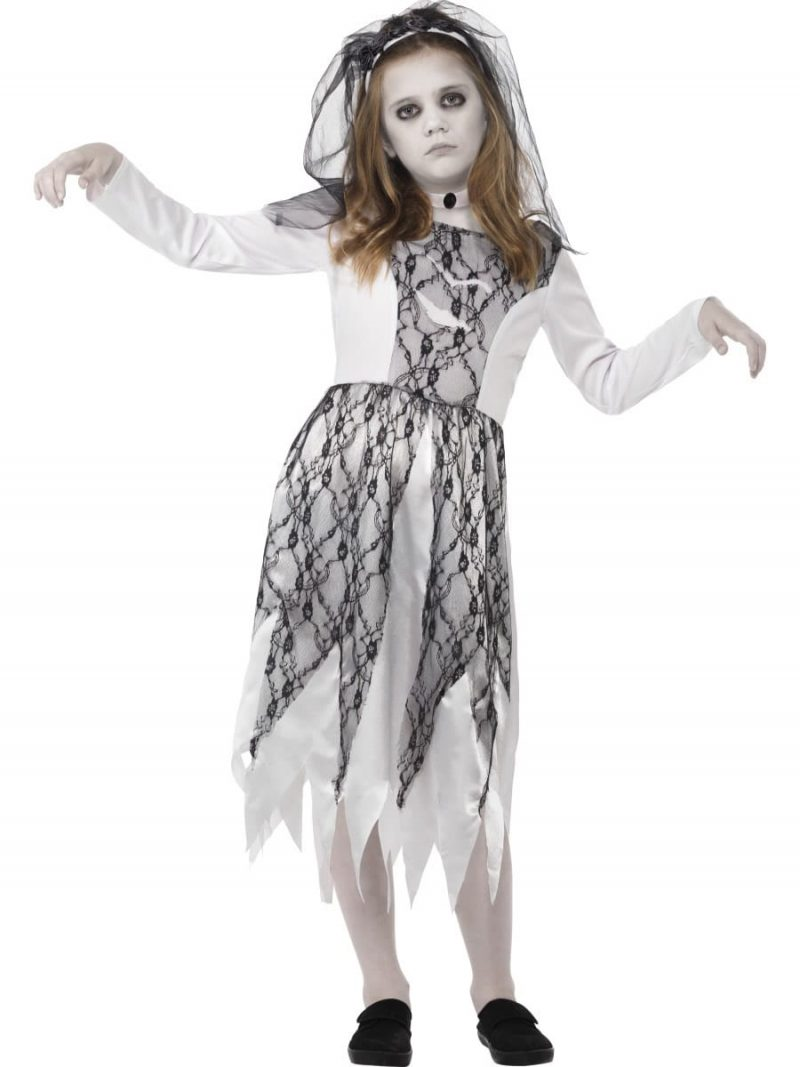 Ghostly Bride Children's Halloween Fancy Dress Costume