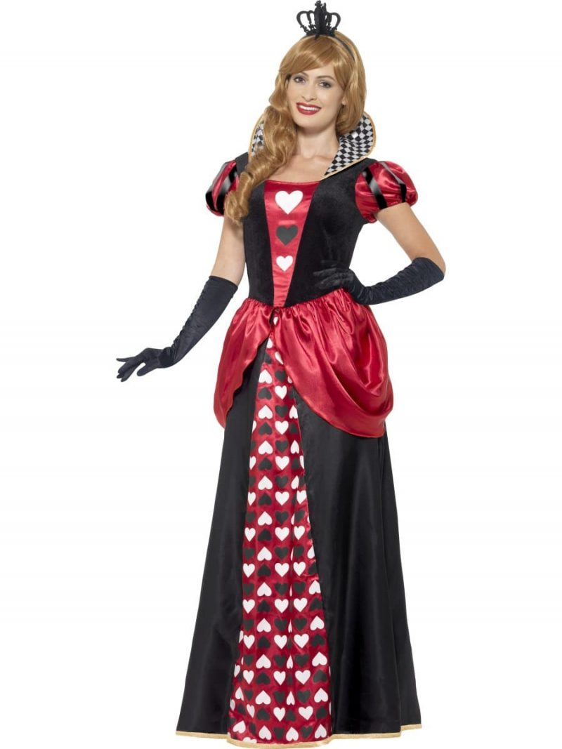 Royal Red Queen Ladies Fancy Dress Costume