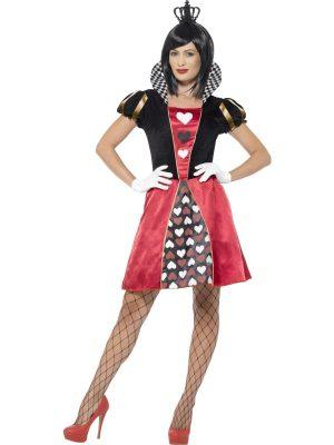 Carded Queen Ladies Fancy Dress Costume