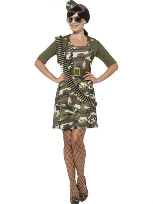 Combat Cadet Ladies Fancy Dress Costume
