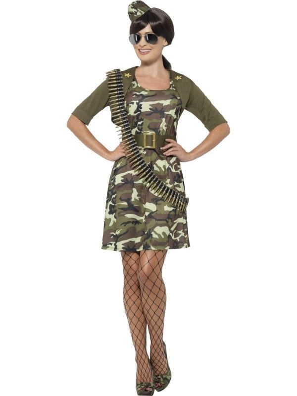 Combat Cadet Ladies Fancy Dress Costume