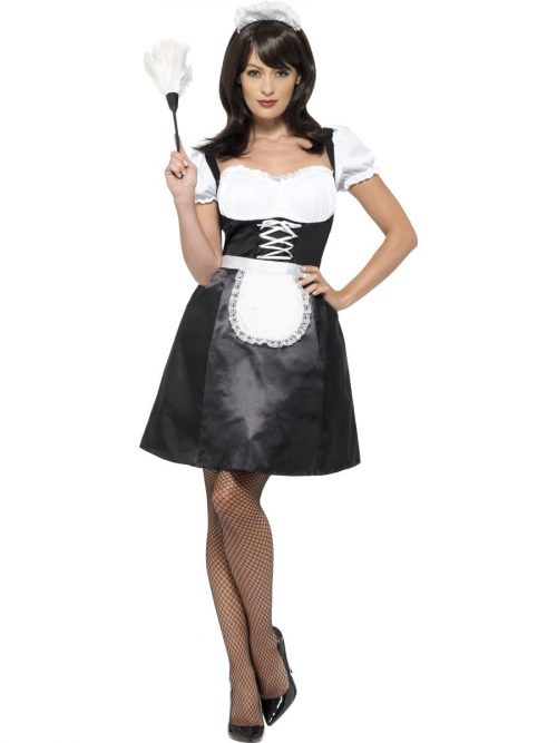 French Maid Ladies Fancy Dress Costume