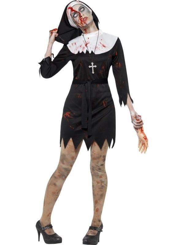 Zombie Sister Ladies Halloween Fancy Dress Costume