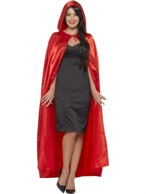 Red Long Hooded Cape