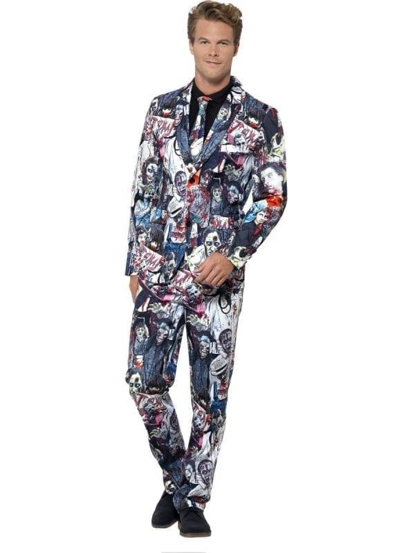 Zombie Standout Suit Men's Halloween Fancy Dress Costume