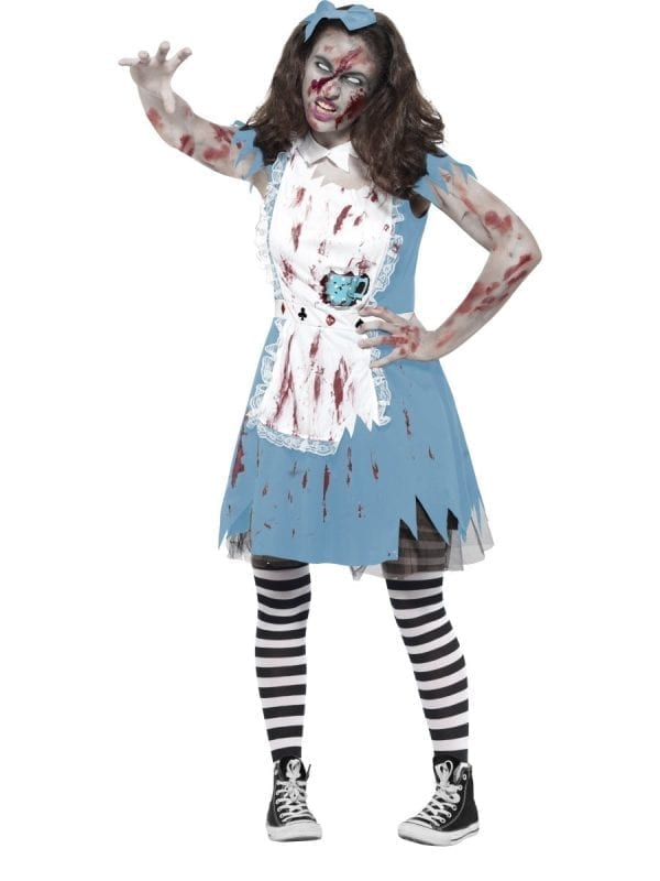 Zombie Tea Party Young Adult Halloween Fancy Dress Costume