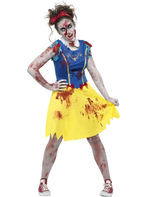 Zombie Miss Snow Young Adult Halloween Fancy Dress Costume