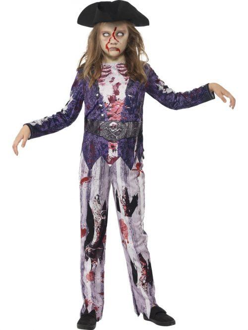 Jolly Rotten Pirate Girl Children's Halloween Fancy Dress Costume