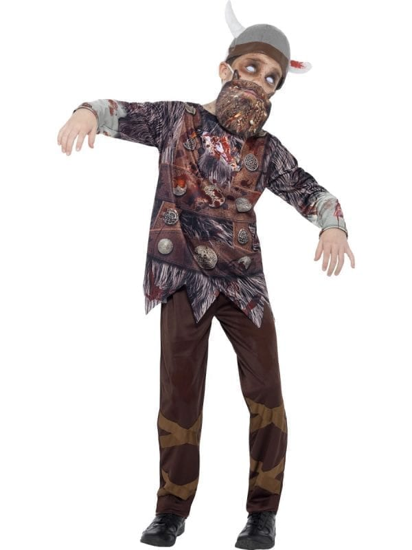 Zombie Viking Children's Fancy Dress Costume