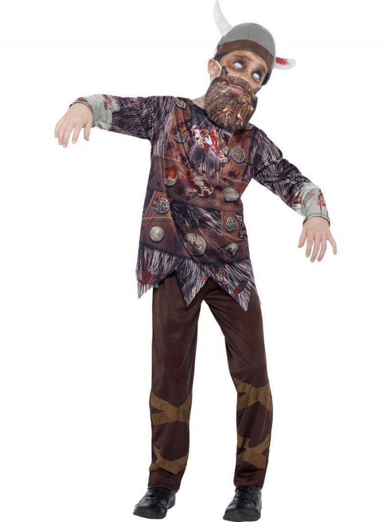 Zombie Viking Children's Fancy Dress Costume