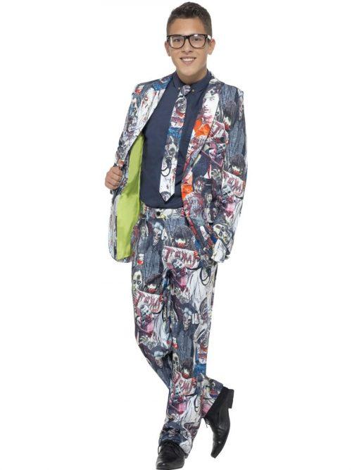 Zombie Standout Suit Young Adult Fancy Dress Costume