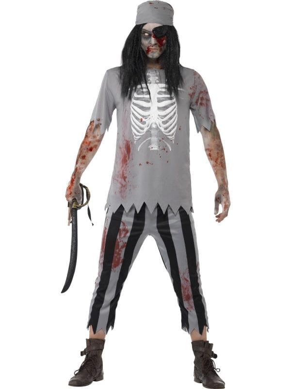 Zombie Pirate Men's Halloween Fancy Dress Costume