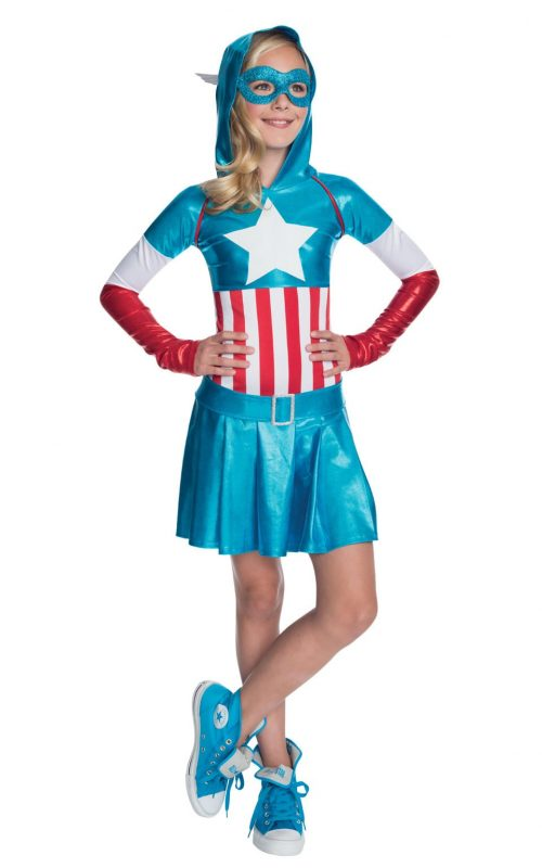 Marvel Captain America Hoodie Dress Children's Fancy Dress Costume