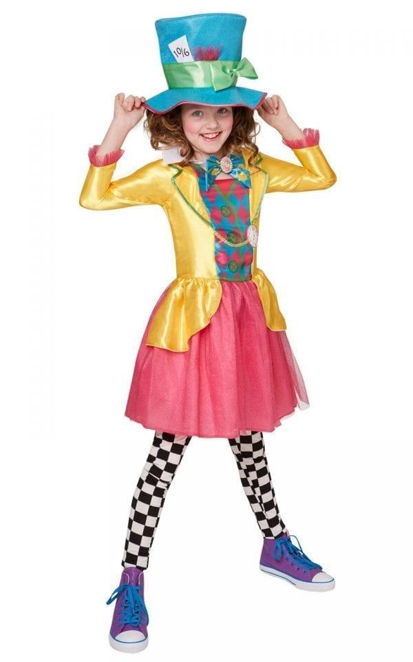 Disney's Alice in Wonderland Mad Hatter Girl Children's Fancy Dress
