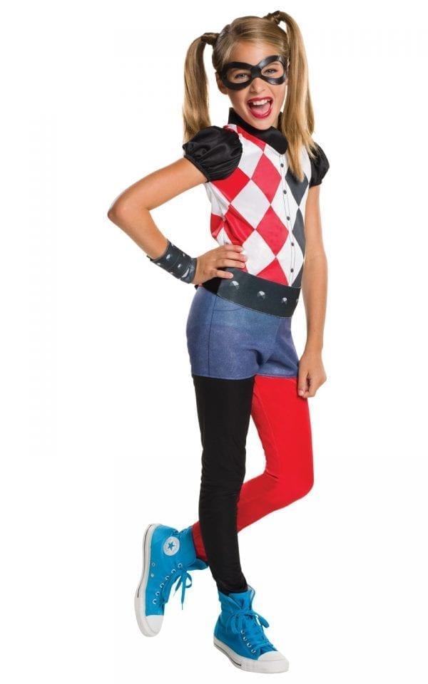 DC Super Hero Harley Quinn Children's Fancy Dress Costume