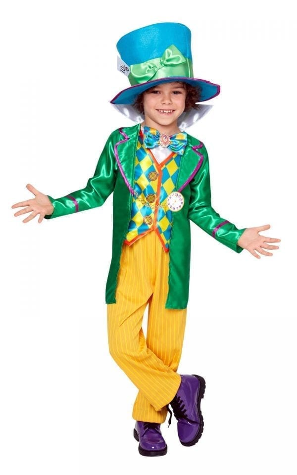 Disney's Alice in Wonderland Mad Hatter Boy Children's Fancy Dress Costume
