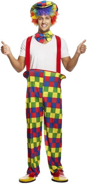 Clown Rainbow Men's Fancy Dress Costume