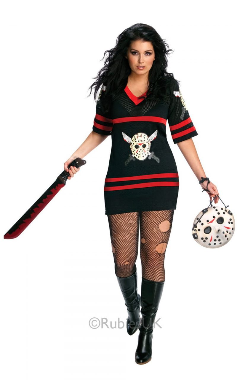 Friday the 13th Miss Voorhees Plus Size Ladies Fancy Dress Costume