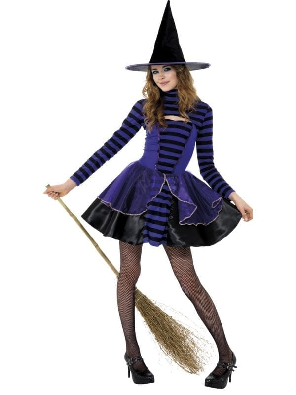 Dark Stripe Fairy Teen Halloween Fancy Dress Costume