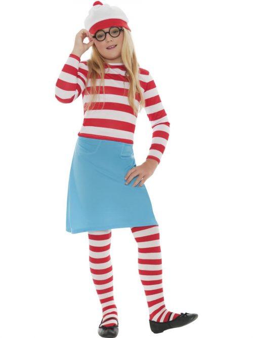 Where's Wally? Wenda Girl Children's Fancy Dress Costume