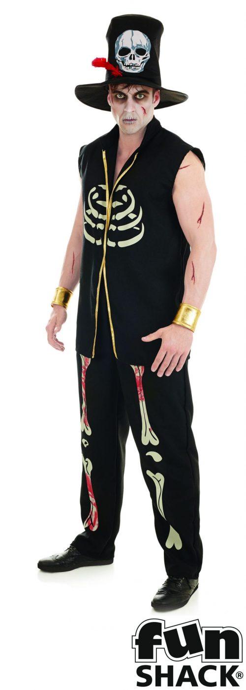 Voodoo Witch Doctor Men's Halloween Fancy Dress Costume