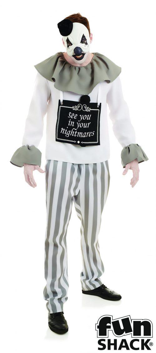 Nightmare Clown Men's Halloween Fancy Dress Costume