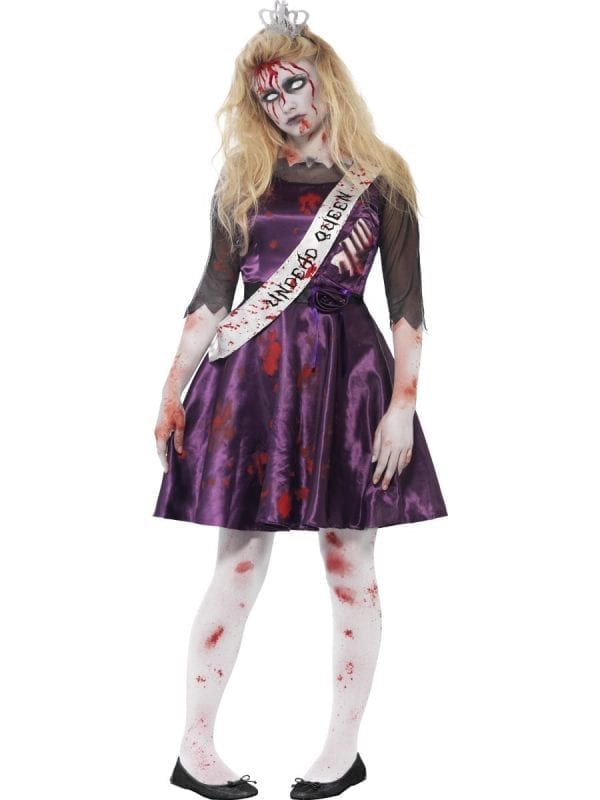 Zombie Prom Queen Young Adult Halloween Fancy Dress Costume