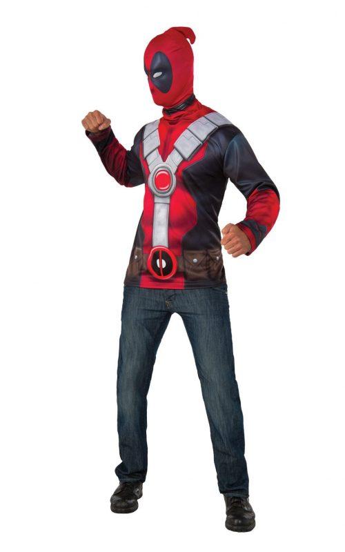Deadpool Top Set Men's Fancy Dress Costume