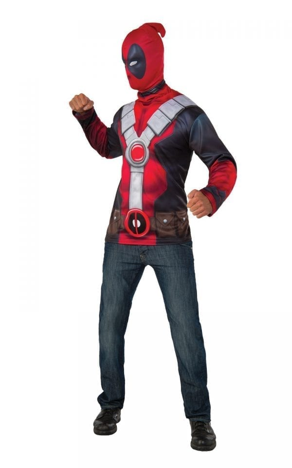 Deadpool Top Set Men's Fancy Dress Costume