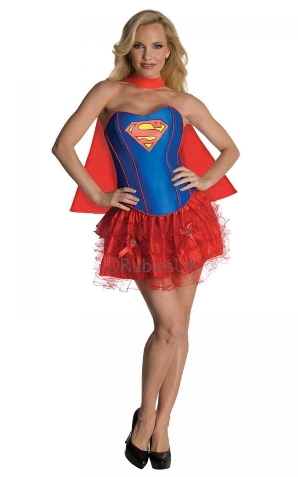 Secret Wishes Supergirl Superhero Ladies Fancy Dress Costume