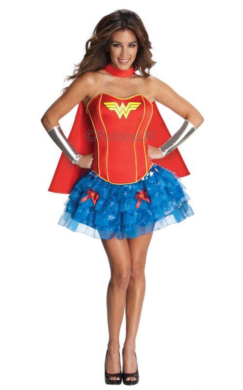 Secret Wishes Wonderwoman Super Hero Ladies Fancy Dress