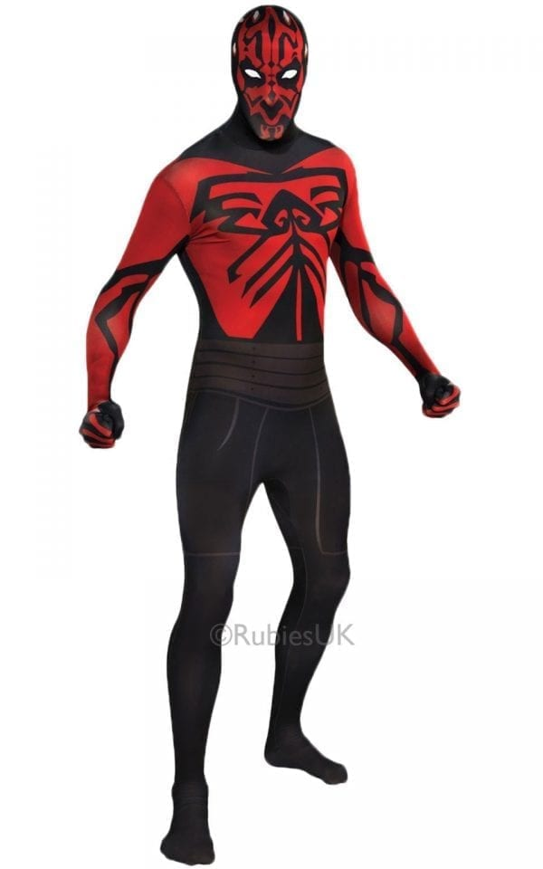 Star Wars Darth Maul 2nd Skin Mens Fancy Dress Costume