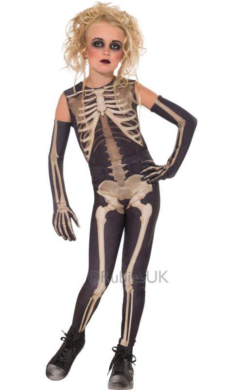 Skelee Girl Children's Halloween Fancy Dress Costume