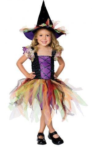 Glitter Witch Children's Halloween Fancy Dress Costume