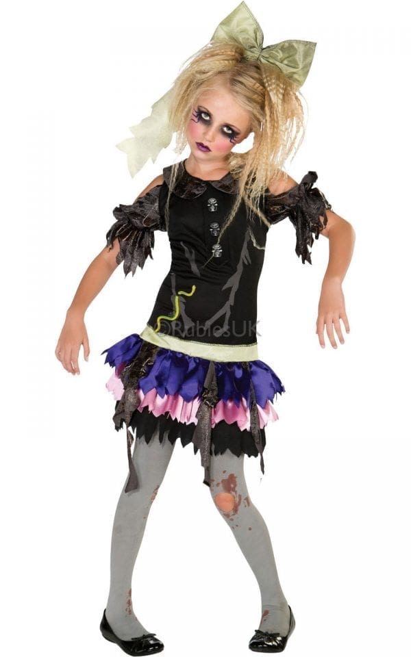 Zombie Doll Children's Halloween Fancy Dress Costume