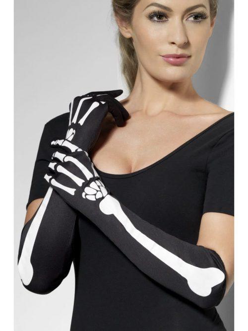 Skeleton print Long Gloves