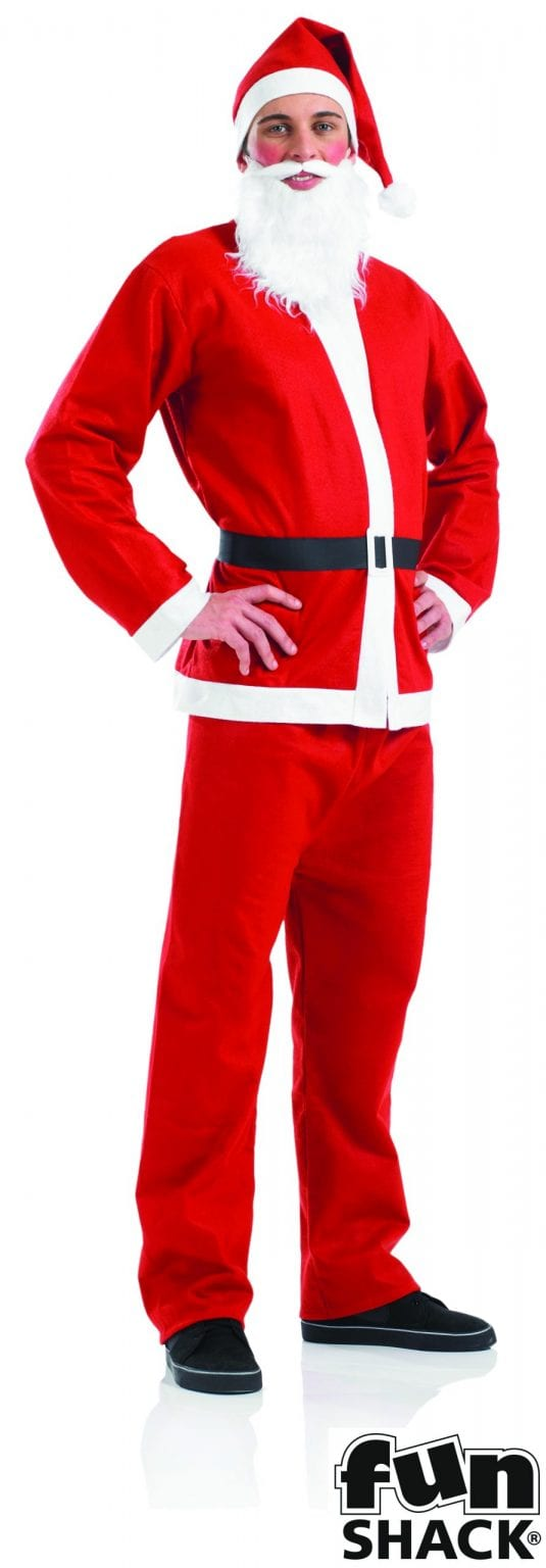 Santa Suit Men's Christmas Fancy Dress Costume-0