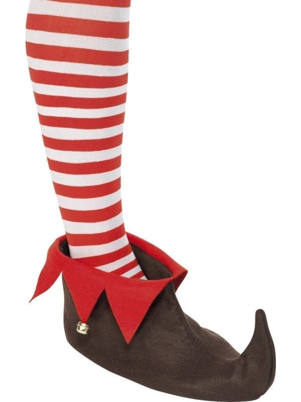 Brown/Red Elf Shoe Covers
