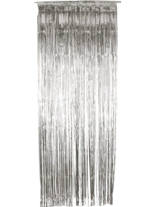 Shimmer Curtain, Metallic Silver
