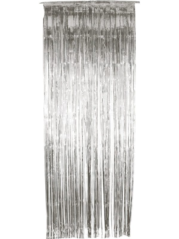 Shimmer Curtain, Metallic Silver