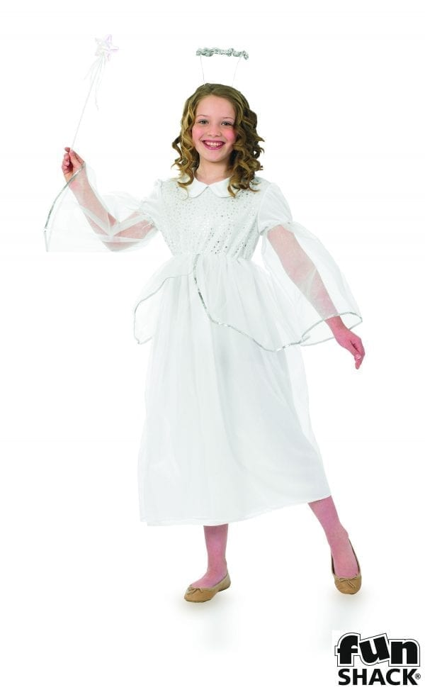 Angelic Angel Children's Christmas Fancy Dress Costume -0