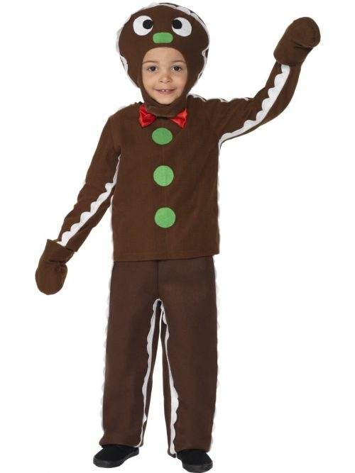 Little Gingerbread Man Children's Christmas Fancy Dress Costume