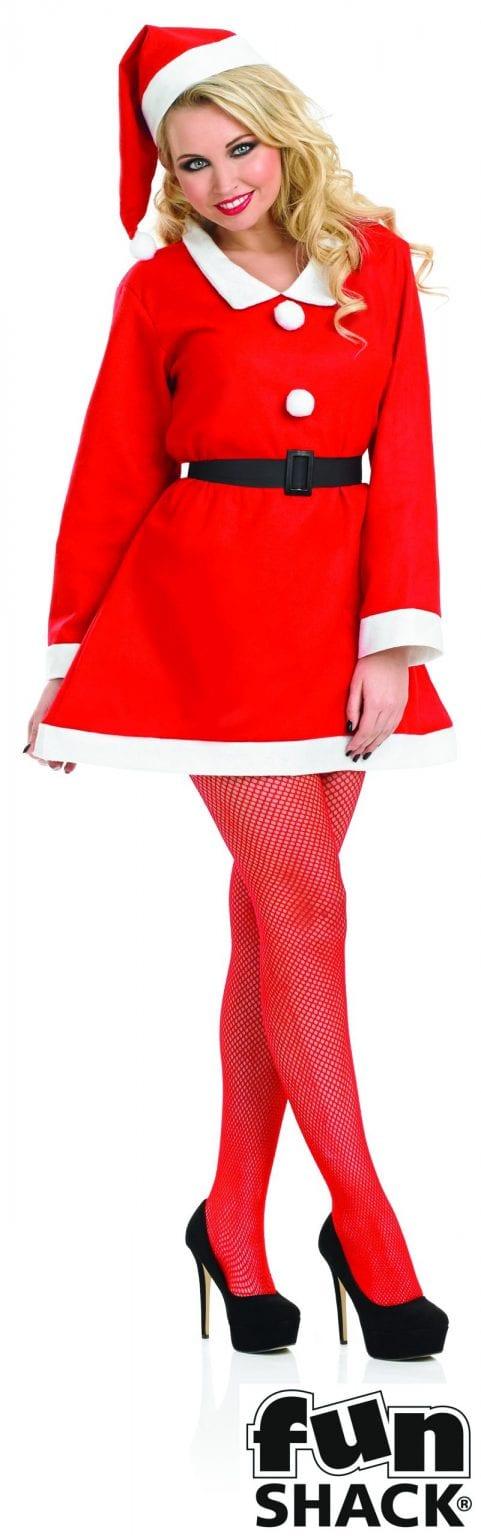 Santa's Sweetie Christmas Ladies Fancy Dress Costume-0
