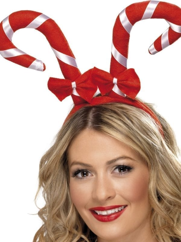 Candy Cane Headband With Bows