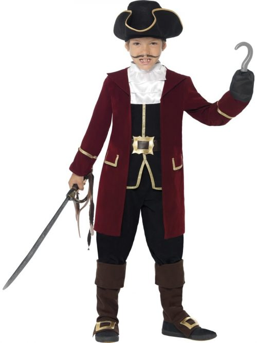 Deluxe Pirate Captain Childrens Fancy Dress Costume