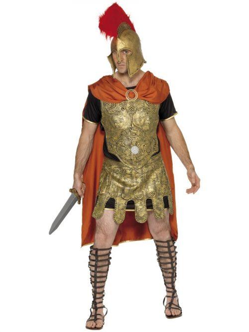 Roman Soldier Tunic Mens Fancy Dress Costume