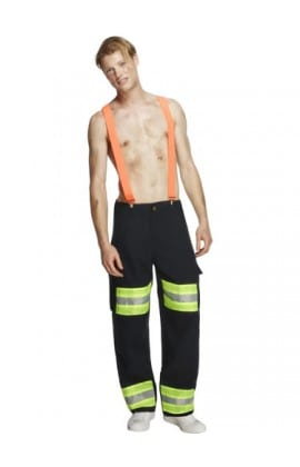 Fever Collection Firefighter Mens Fancy Dress Costume