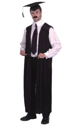 Teacher Gown Mens Fancy Dress Costume